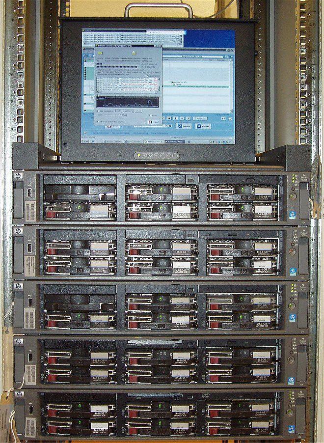 Unsere HP DL-380 Serverfarm
