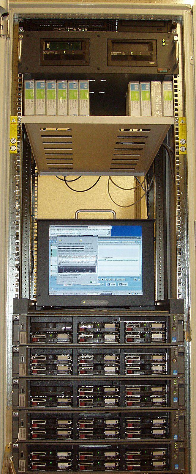Das Powerrack, mit über 35 GHz CPU-Leistung, von PleskHost Switzerland