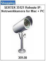 SERTEK 35121 IP-Netzwerkkamera für Mac + PC mit 20m Infrarot kaufen