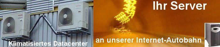 Serverhousing im klimatisierten Datacenter Bern an Glasfaser Internet Autobahn