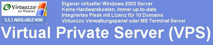 Virtual Private Server Windows 2003 (VPS)