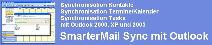 SmarterMail Synchronisation mit Outlook