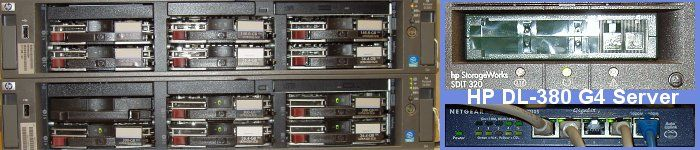 Unsere HP ProLiant DL-380 G4 Server