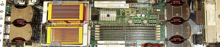 Innenleben eines HP DL380 G4 Servers