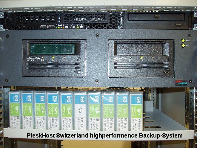 Dual SDLT highperformence Backup-System von PleskHost Switzerland